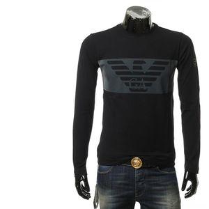 Emporio Armani 安普里奥·阿玛尼男士鹰标长袖圆领T恤 码