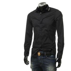 Emporio Armani EA 阿玛尼男士修身隐形扣长袖衬衫