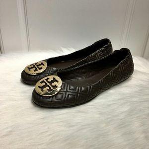 Tory Burch 托里伯奇女士菱格纹羊皮芭蕾舞软底鞋