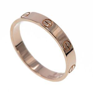 Cartier 卡地亚love系列18K玫瑰金窄版戒指