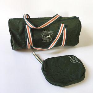 Hermès 爱马仕轻便旅行包健身包两件套