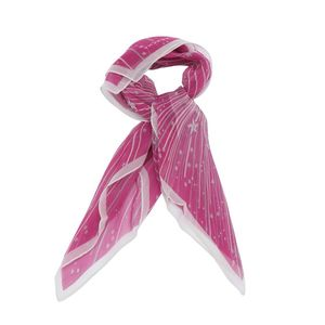 GIVENCHY 纪梵希粉紫色星光印花丝巾
