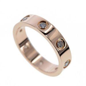 Cartier 卡地亚窄版LOVE真爱系列18K玫瑰金螺钉戒指