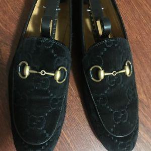 GUCCI 古驰丝绒皮鞋