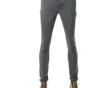 Emporio Armani 安普里奥·阿玛尼纽扣门禁男士做旧修身牛仔裤