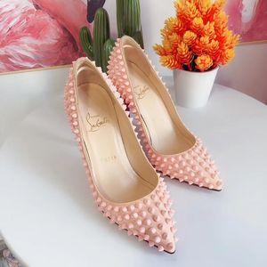 Christian Louboutin 克里斯提·鲁布托裸粉色柳丁红底高跟鞋