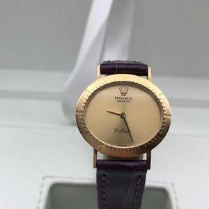 Rolex 劳力士切利尼系列18k黄金女士机械腕表