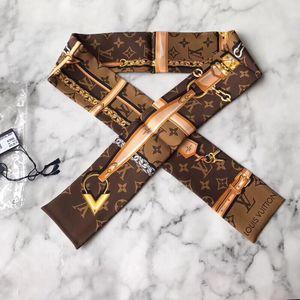Louis Vuitton 路易·威登黑白配色twilly丝巾