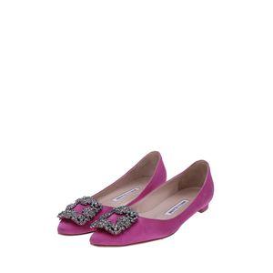Manolo Blahnik 马诺洛玫紫色平底鞋