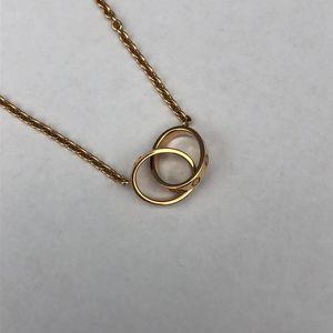 Cartier 卡地亚love系列黄金双环项链