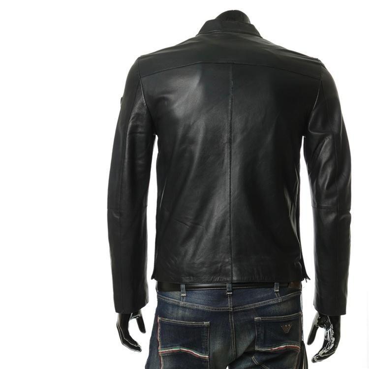 阿玛尼男装皮衣_Emporio Armani阿玛尼男士羊皮夹克外套皮衣-心上共享平台