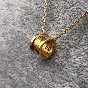 GUCCI 古驰Au750黄金双G镂空项链