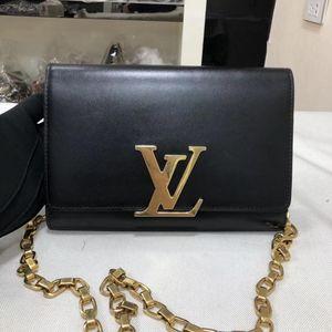 Louis Vuitton 路易·威登黑金全皮链条包