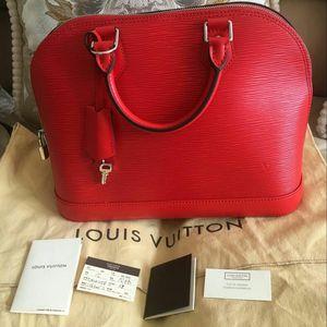 Louis Vuitton 路易·威登内外全皮罂粟红贝壳包