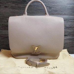 Louis Vuitton 路易·威登灰色全皮手提单肩包