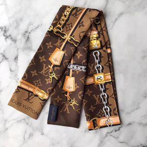 Louis Vuitton 路易·威登黑白配色twilly发带