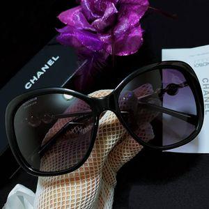 CHANEL 香奈儿珍珠限量款大框太阳镜