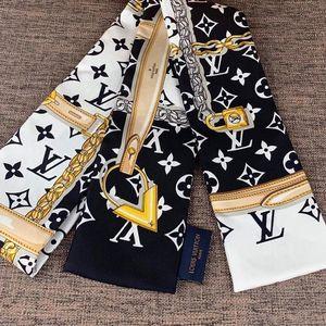 Louis Vuitton 路易·威登黑白配色丝巾发带