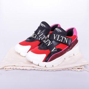 Valentino 华伦天奴魔术贴交叉绑带低帮透气运动鞋
