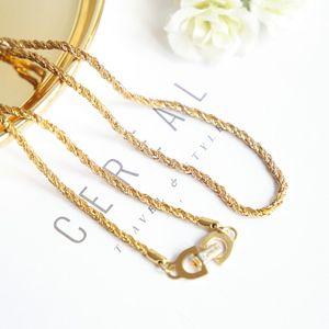 Dior 迪奥艺术闪金粗金丝项链锁骨链