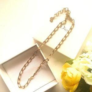 Dior 迪奥XL12074简约闪金项链锁骨链
