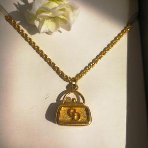 Dior 迪奥XL02007字母logo镀金锁坠金丝项链锁骨链