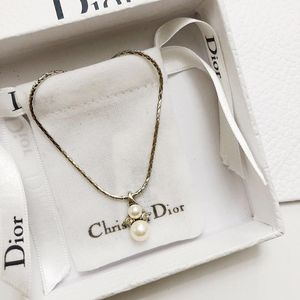 Dior 迪奥银色珍珠项链