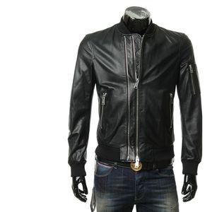 Emporio Armani EA 阿玛尼男士真皮皮衣夹克外套