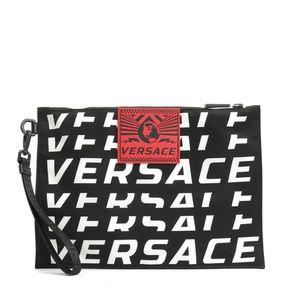 Versace 范思哲男士大号尼龙手拿包