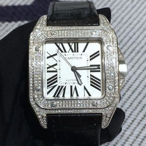 Cartier 卡地亚桑托斯大号后镶自动机械表