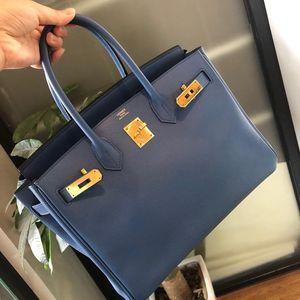 Hermès 爱马仕birkin30蓝色epsom手提包