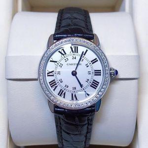 Cartier 卡地亚小号伦敦solo热门款后镶钻女士腕表