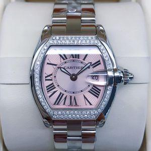 Cartier 卡地亚跑车热门后镶钻女士石英腕表
