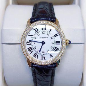 Cartier 卡地亚小号伦敦solo系列后钻女士石英腕表