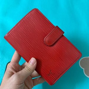 Louis Vuitton 路易·威登红色水波纹中长款钱包