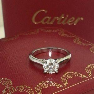 Cartier 卡地亚一克拉戒指