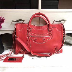 Balenciaga 巴黎世家city红色特别款手提包