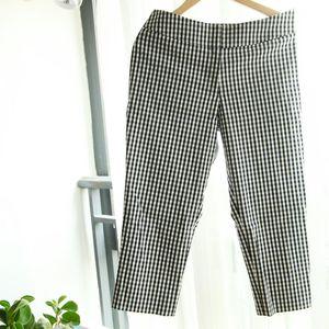 LANVIN 朗雯经典黑白格纹七分裤休闲裤