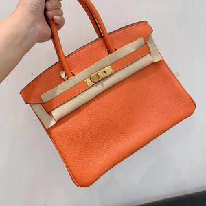 Hermès 爱马仕橙色birkin30手提包