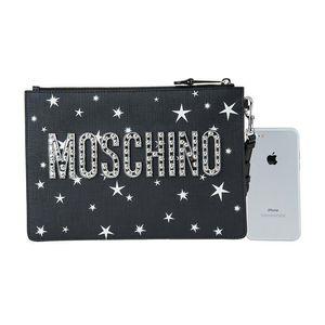 Moschino 莫斯奇诺女士飞碟泰迪信封手拿包