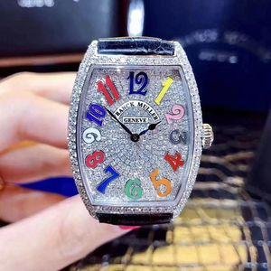Franck Muller 法兰克穆勒后镶钻满天星石英腕表