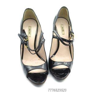 Miu Miu 缪缪黑色漆皮女士高跟鞋