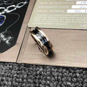 BVLGARI 宝格丽玫瑰金陶瓷弹簧62号戒指
