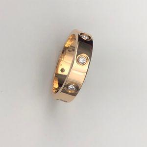 Cartier 卡地亚8钻Love玫瑰金49号戒指