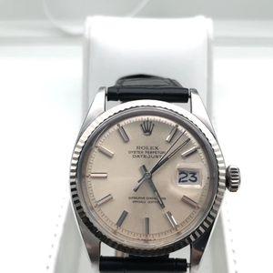 Rolex 劳力士经典收藏款1601白金狗牙圈男士腕表