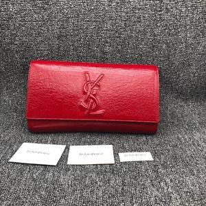 Yves Saint Laurent 伊夫·圣罗兰红色漆皮晚宴包手拿包