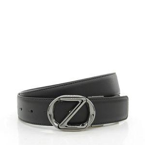 Z Zegna Z杰尼亚男士Z头两面用真皮皮带