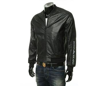 Emporio Armani EA 阿玛尼男士羊皮夹克外套皮衣
