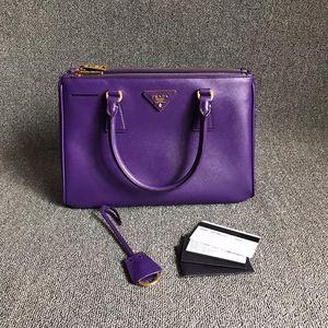 PRADA 普拉达紫色小号杀手手提包
