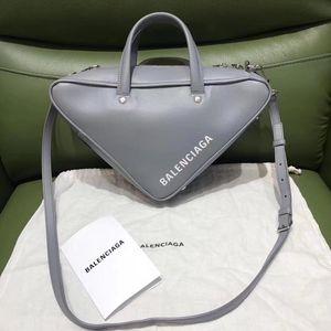 Balenciaga 巴黎世家雾霾蓝三角手拿包